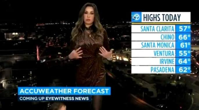 Leslie Lopez doing her AccuWeather forecast on January 8