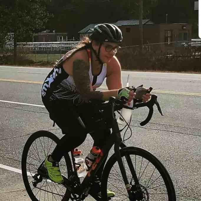 Tatianna Wawrzynski riding her bike