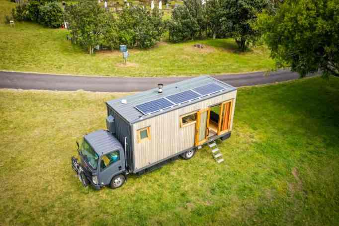 An off-grid tiny house truck in New Zealand