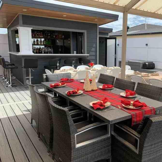A backyard bar