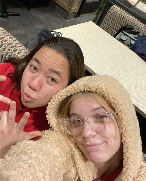 Haley Bridges and Hokule'a Taniguchi, best friend and co-worker
