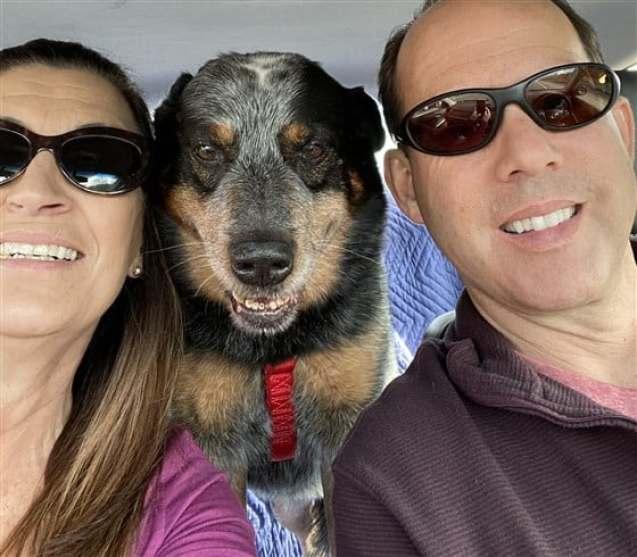 Lisa Lomeli with her husband Lawrence and Baby Dog