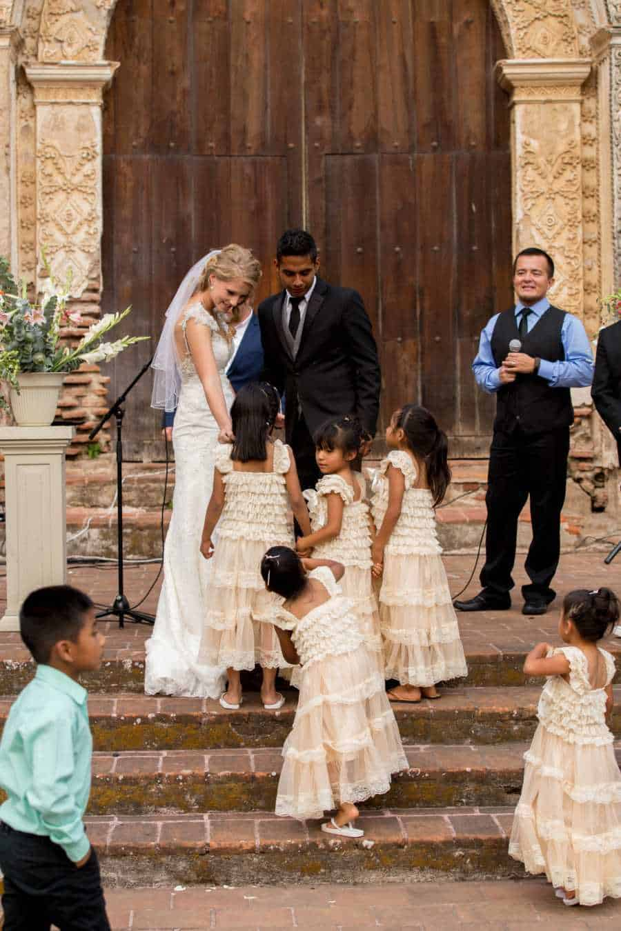 Addisy getting married to Ronald, wedding photo.
