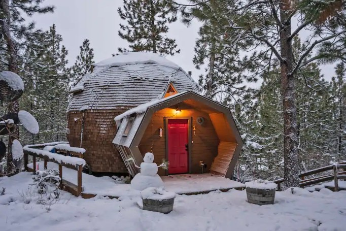 Dome Sweet Home during the winter
