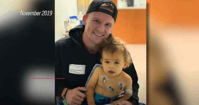 Brooks with his Uncle Grant, who found meaning in life after undergoing an organ donation for his nephew.
