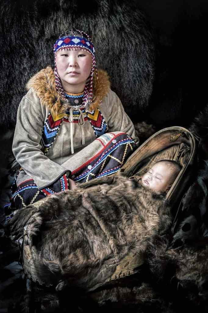 Evenki Mom with Baby
