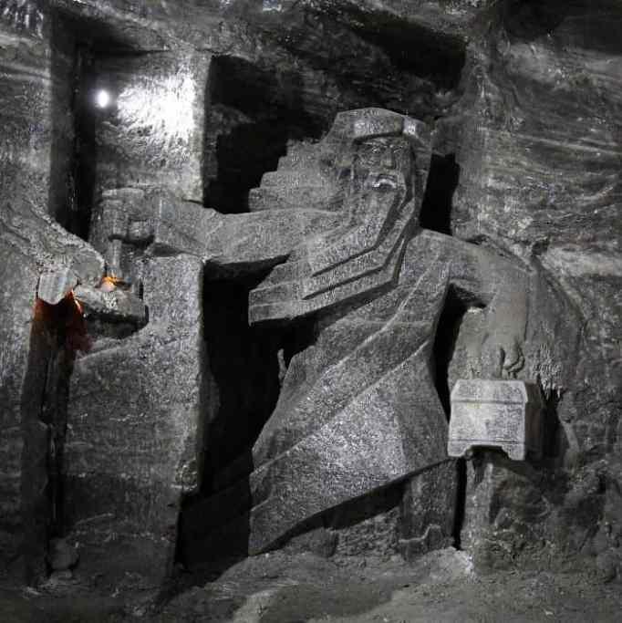 A gargoyle in the Wieliczka Salt Mine