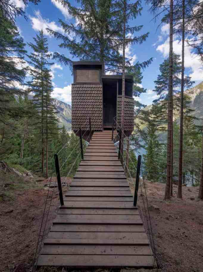 Then beautiful entrance to the cabin