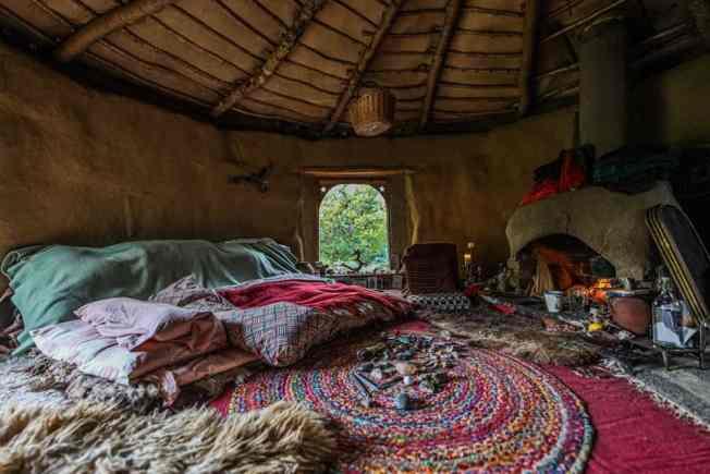 Inside Emma's earthen home