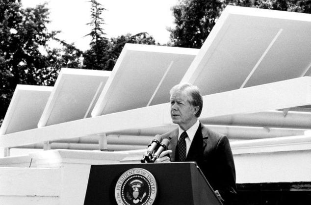 Former President Jimmy Carter during his address to the nation on June 20, 1979