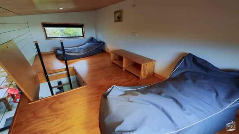 Loft area inside a tiny home