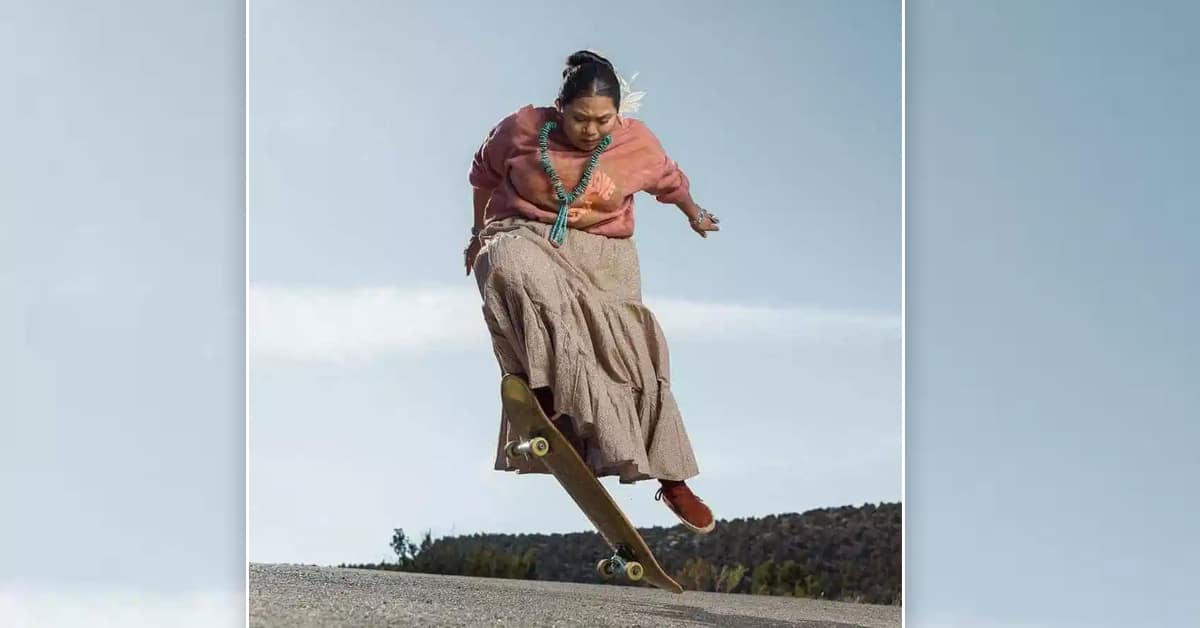Navajo woman's cool skateboarding videos on the reservation is going viral on TikTok - my positive outlooks