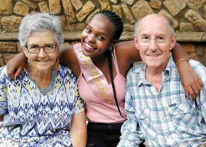 Mandisa Mlitwa with her adoptive parents