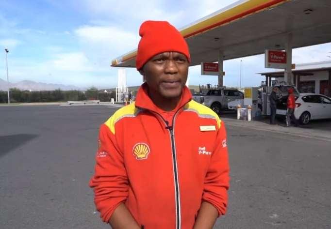 Nkosikho Mbele wearing his Shell uniform