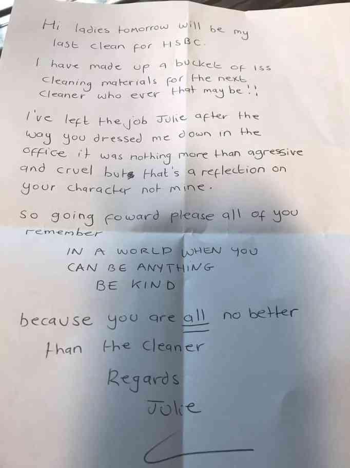 Заявление об отставке Джули Казинс