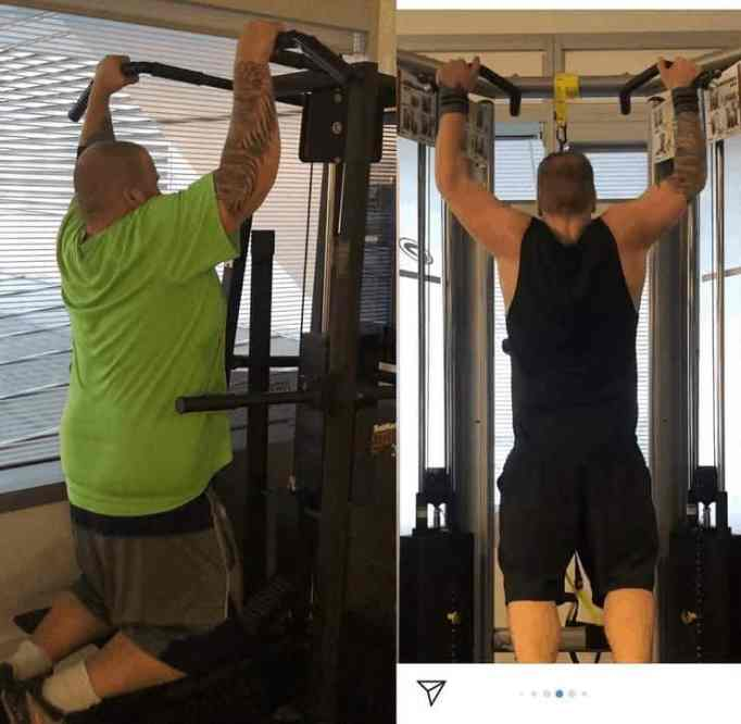 A snapshot of Mitch Fuhlman, working out on the gym to stay in good shape