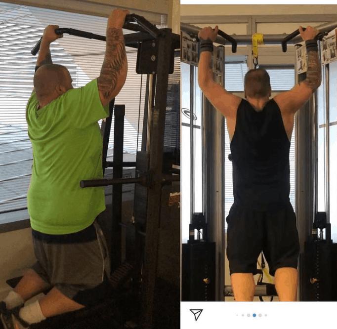 Снимок Митча Фульмана, который тренируется в тренажерном зале, чтобы оставаться в хорошей форме.