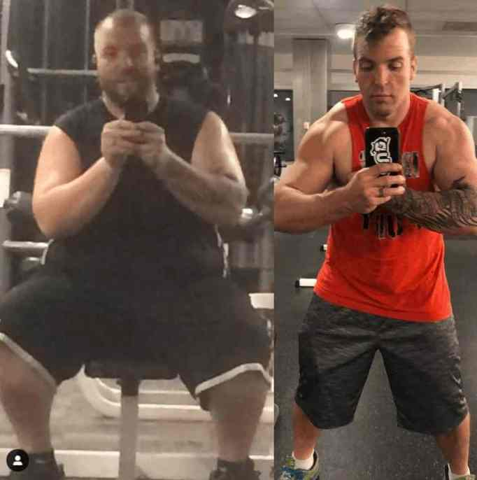Mitch Fuhlman's posted photo on Instagram, showing his incredible transformation that helped him beat diabetes