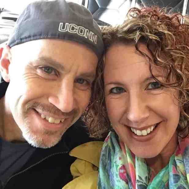 A selfie of Lisa Marshall and Peter Marshall