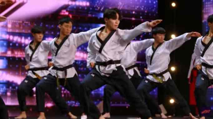 World Taekwondo Demonstration Team on America's Got Talent - free auditions segment.