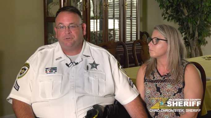 Corporal Mike Blair and his wife Danyel