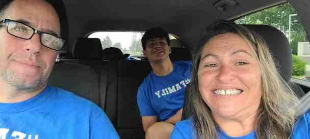 Nate with his parents Rita Marlow and Seth Lentchner