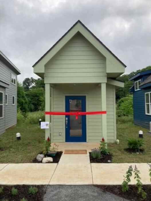 A tiny home in The Village at Glencliff