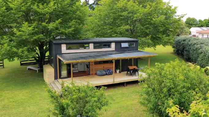 Top view of the tiny home