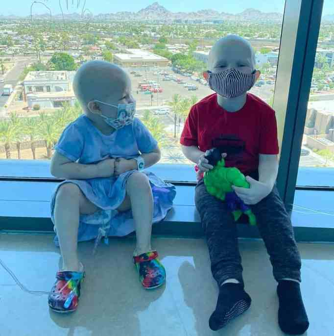Mack Porter and Payson Altice at the Phoenix Children's Hospital