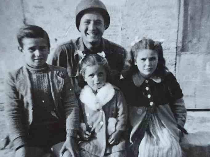 Martin Adler with the Naldi siblings in 1944