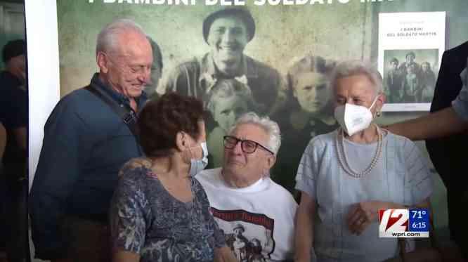 Martin Adler meeting the Naldi siblings at Bologna Airport