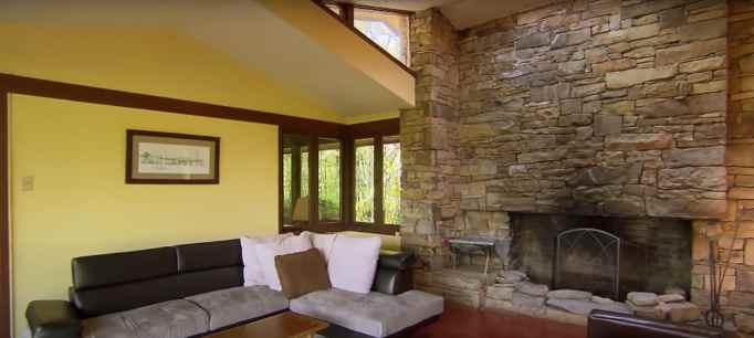 Living room designed by Frank Lloyd Wright apprentice.