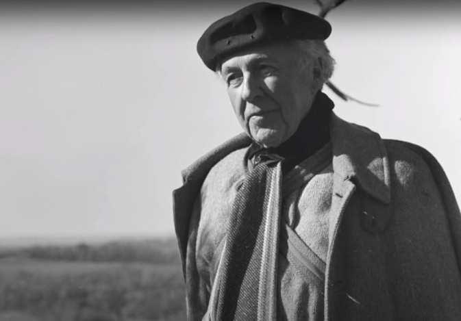 Portrait of famed architect Frank Lloyd Wright.