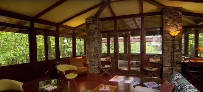 Room designed by Frank Lloyd Wright apprentice.