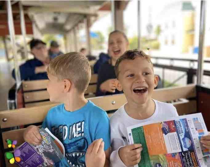 Kids enjoying the miniature train