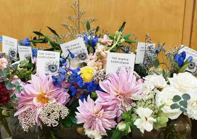 Bouquets of flowers arranged by The Simple Sunflower volunteers