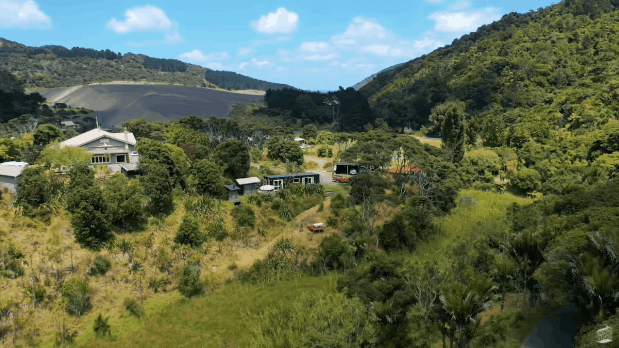 Aerial view of Ruby's property