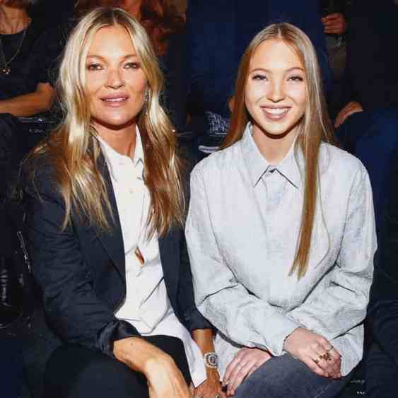 Kate Moss and her daughter Lila Grace Moss