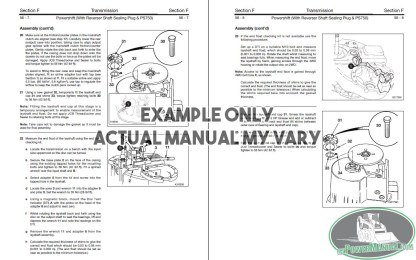 Equipment Repair Manual Sample