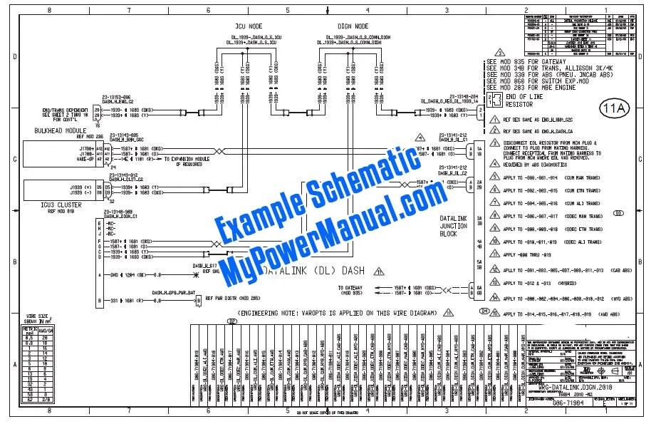 Detroit Diesel Series 50 50g Ddec Iv My2003 Wiring Diagram