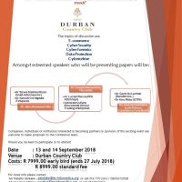 SA Cyber Law & ICT Workshop - Durban 2018
