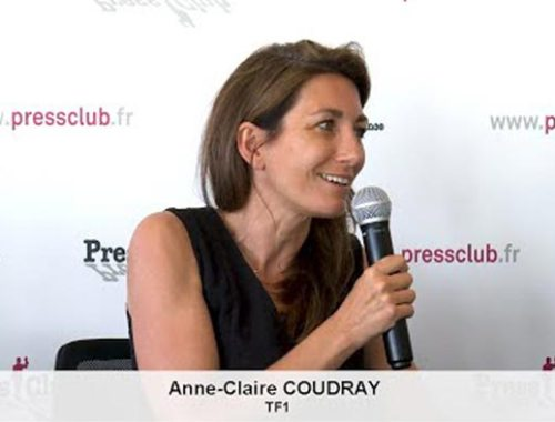 Anne Claire Coudray TF1 - Press Club de France