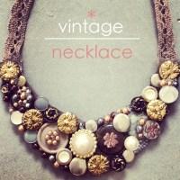 vintage necklace idea