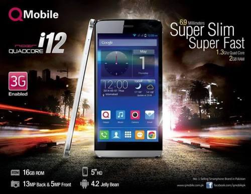 Qmobile Noir QuadCore i12 Mobile Price in Pakistan Specs Features Review