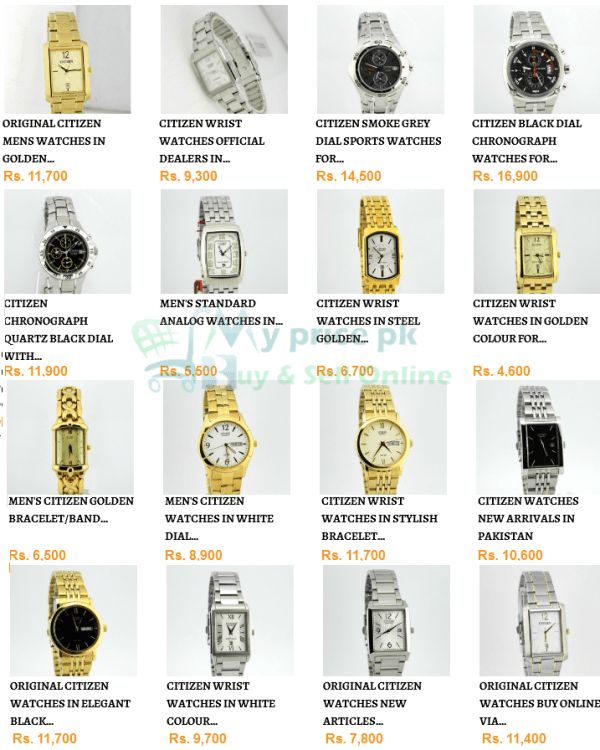 Citizen Brand of watches Gents/Men watches Price and Shape in Pakistan with Specs Images
