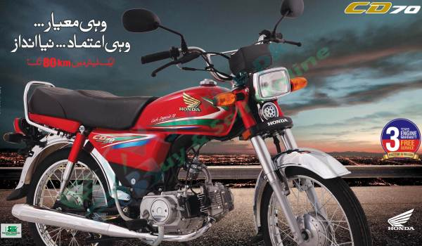New Honda CD 70 Model 2016 Shape Mileage Launch Date Pictures