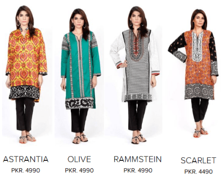 Sana Safinaz Ladies Winter Dresses