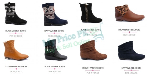 Insignia Ladies Winter Boots New Arrivals 2016 Price In Pakistan Colors Designs