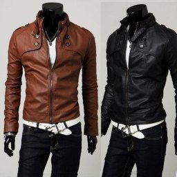 Winter Mens Leather Jackets Black and Brown Color Collections New Styles