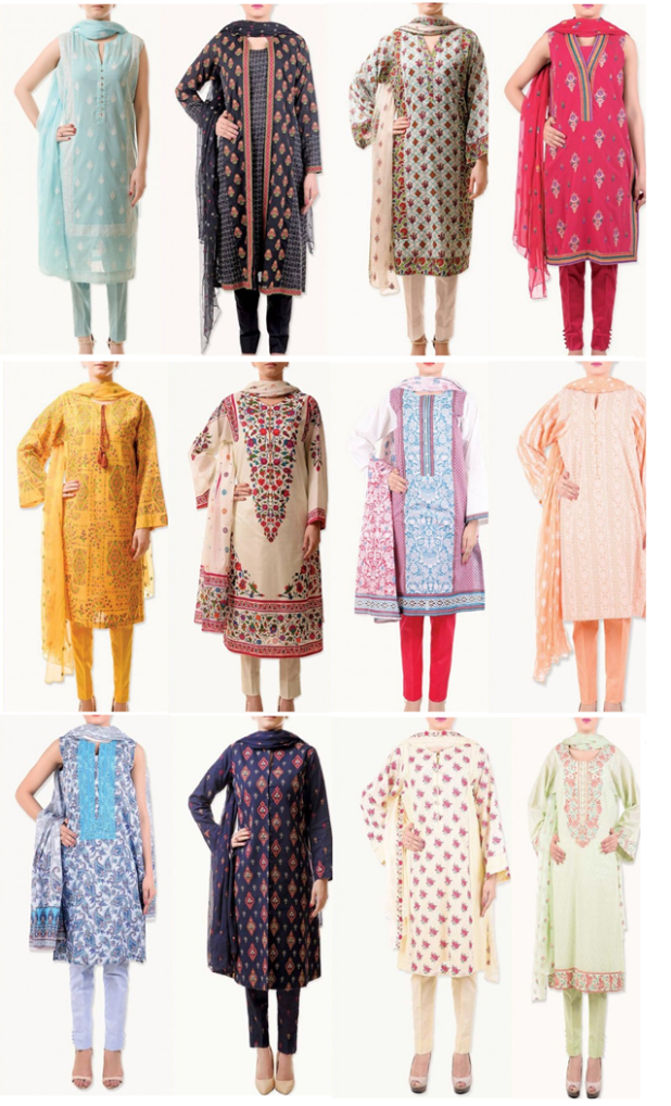 Bareeze Casual Summer Lawn Dresses Collection 2016 Price Latest Designs Images